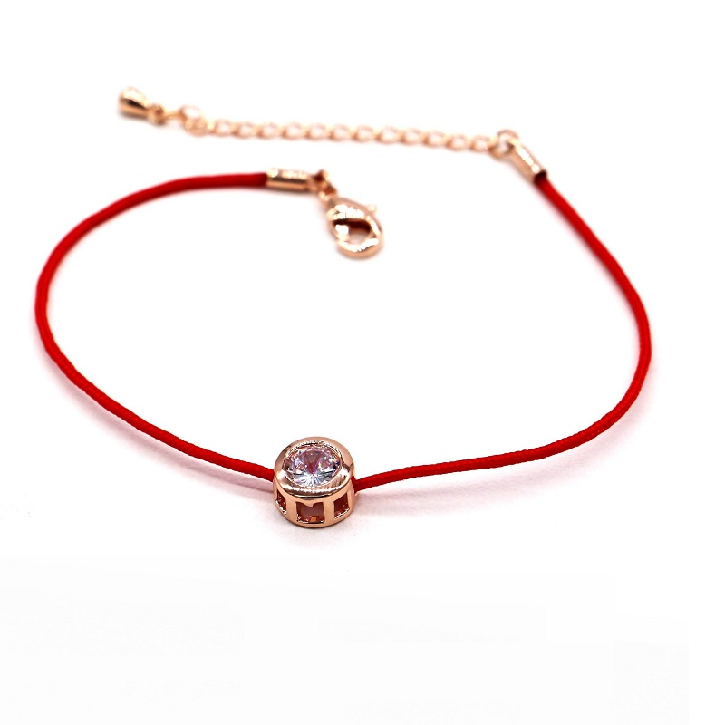 chains chain string pin bracelet wholesale zircon red lucky simple new fashion jewelry for women classic bijoux bracelets
