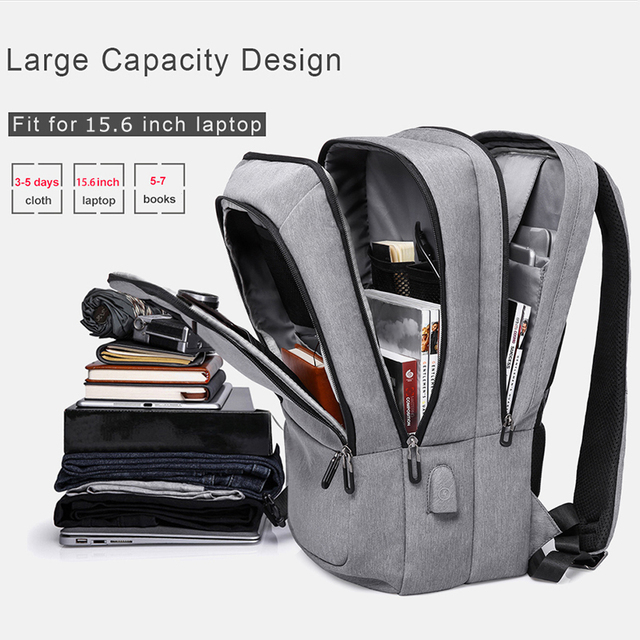 USB Charging Large Capacity Travel Backpack