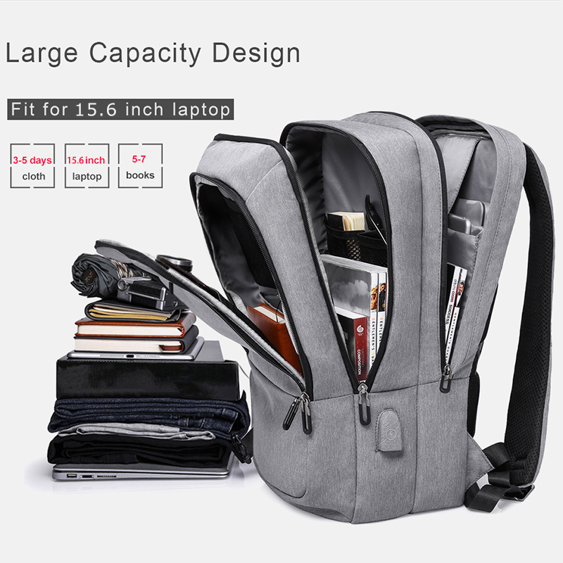 "Kaka Casual Men Backpack Usb Charging Large Capacity Travel Backpack 15.6"" Laptop Backpack Schoolbag For Teens Mochila Back Pack"