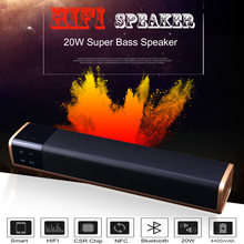 5ecfe7ff666 Portable 20W HIFI Bluetooth Speaker Shock Sound TV Soundbar Wireless Super  Bass Stereo Loudspeaker TF Card