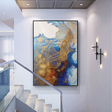 Canvas painting cuadros decoracion acrylic painting gold Wall art Pictures for living room home decor modern abstract qudraos36 цена