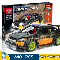640pcs Techinic Hatchback Type RC Racing Cars 20053 DIY Model Building Kit Blocks Gifts Electric Moc Toys Compatible With lego