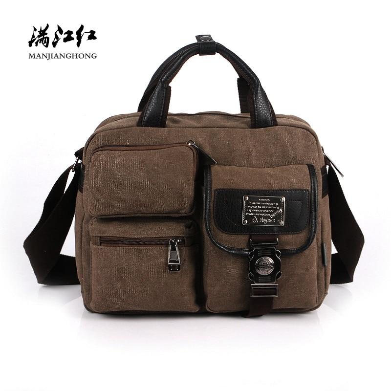 Fashion Canvas Men Shoulder Bags Vintage Messenger Crossbody Bags For Men Satchel Big Capacity Casual Tote Bag Men Handbag 1061 цена