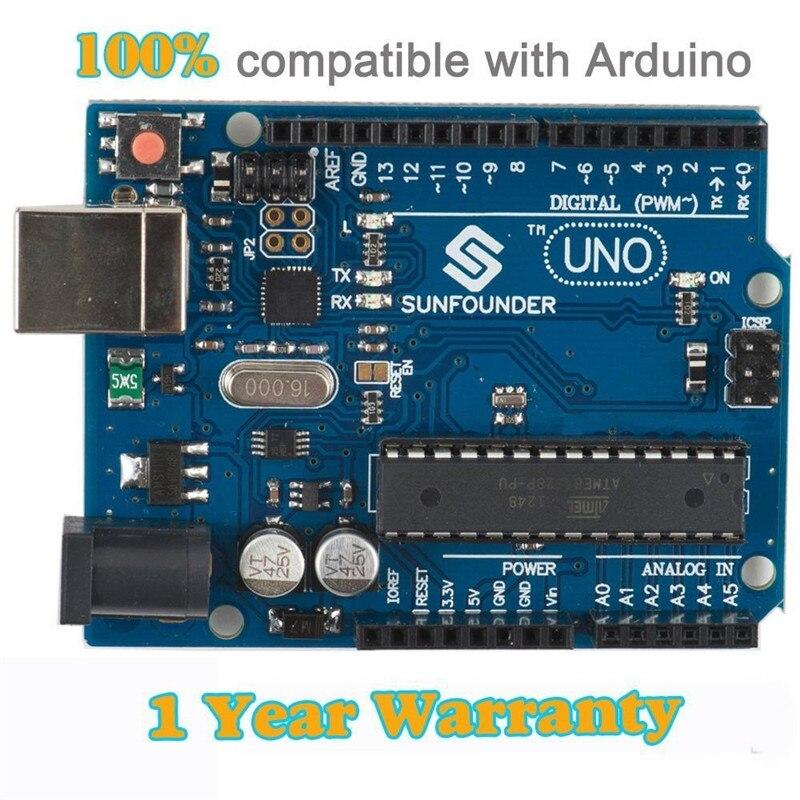 Sunfounder NEW UNO R3 for Arduino ATMEGA328P ATMEGA16U2 UNO R3 Development Board