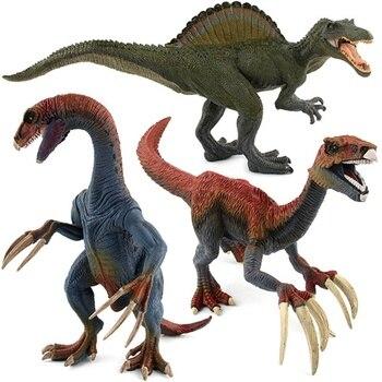 Jurassic World Park Dinosaur Plastic Toy Model Therizinosaurus Pterosauria Velociraptor Figure Merry Christmas Gift Baby 2018 figurine