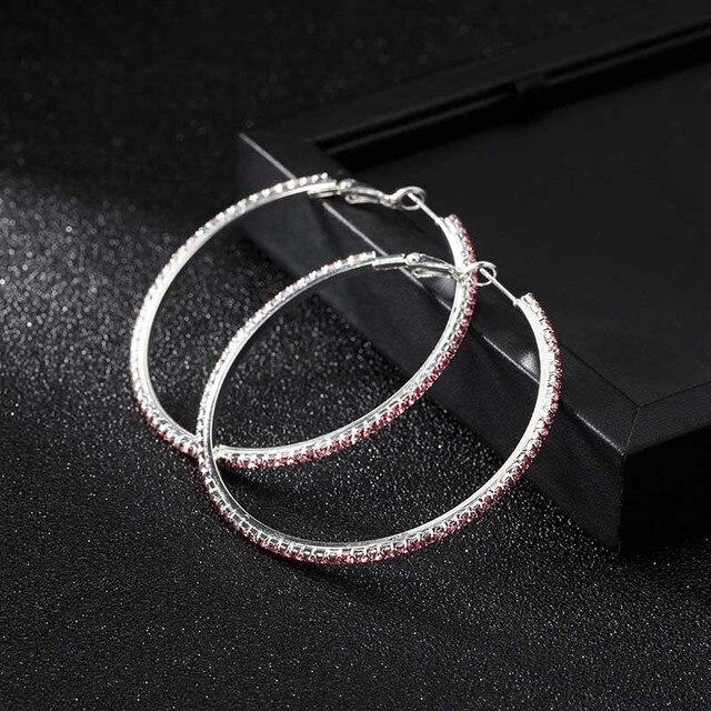 Женские классические серьги кольца yejewe маленькие и большие