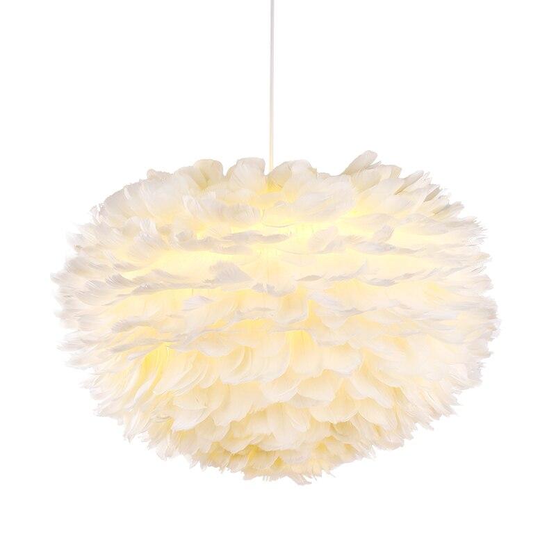 Modern feather LED Pendant Light Dia.40cm 50cm 60cm simple festival Christmas Xmas Wedding baby room decoration E27 led bulb