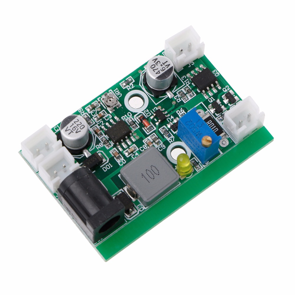 Electronic 12V TTL Step-down Laser Diode LD Power Supply Driver Board Stage  828 Promotion 12vdc ttl 1w 2w blue 445nm 450nm laser diode ld driver power supply stage light