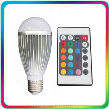 12PCS Warranty 3 Years Epistar Chip 9W Remote LED Bulb RGB E27 Color Change Spotlight Spot Light Lamp