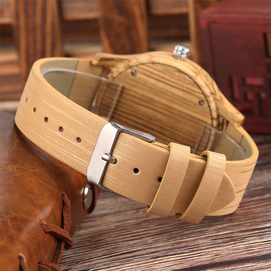 Classic Engraved Pattern Wooden Watch for Men Women Retro Fashion 4