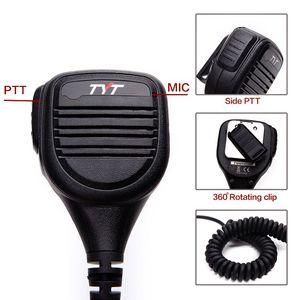 Image 3 - TYT IP54 MD 380 2 Pin PTT Remote Rainproof Shoulder Speaker Mic for TYT MD 380 MD 390 TH UV8000D/E Walkie Talkie MD 380G Radio