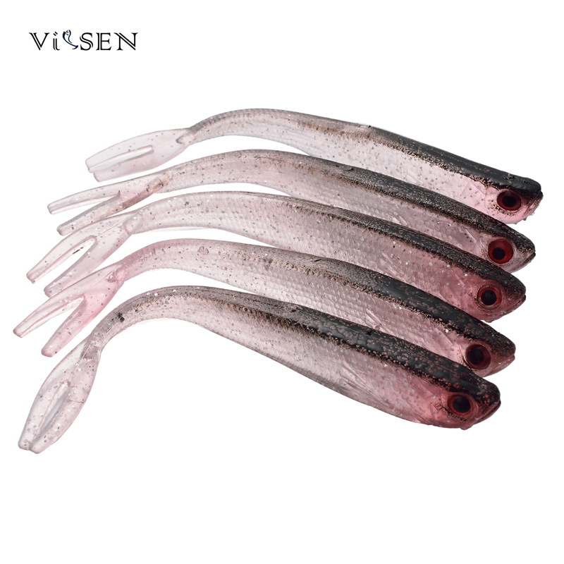 Vissen Artificial Fish 10pcs/Set 10cm Soft Silicone Tiddler Bait Fluke Fish Fishing Saltwater Fish Tackle Lures 10pcs 7 5cm soft lure silicone tiddler bait fluke fish fishing saltwater minnow spoon jigs fishing hooks