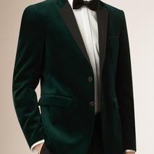 a3797af6601c Mens Velvet Blazers Custom Made Slim Fit Dark Green Velvet Jacket Men,  Tailored Velvet Blazers