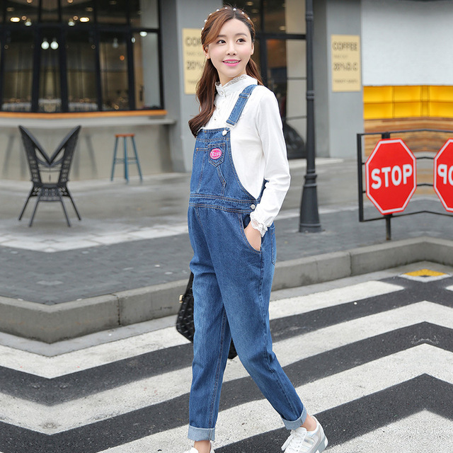 Marca Projeto de Maternidade Denim Macacão Jeans calças de Brim de Maternidade para As Mulheres Grávidas Gravidez Calças Jumpsuite Inverno Primavera Outono