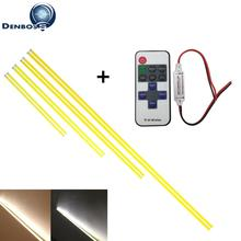 10PCS 5PCS 200mm 300mm 400mm 500mm 600mm flexible 12V led cob strip Bar light with wireless RF controller for Car