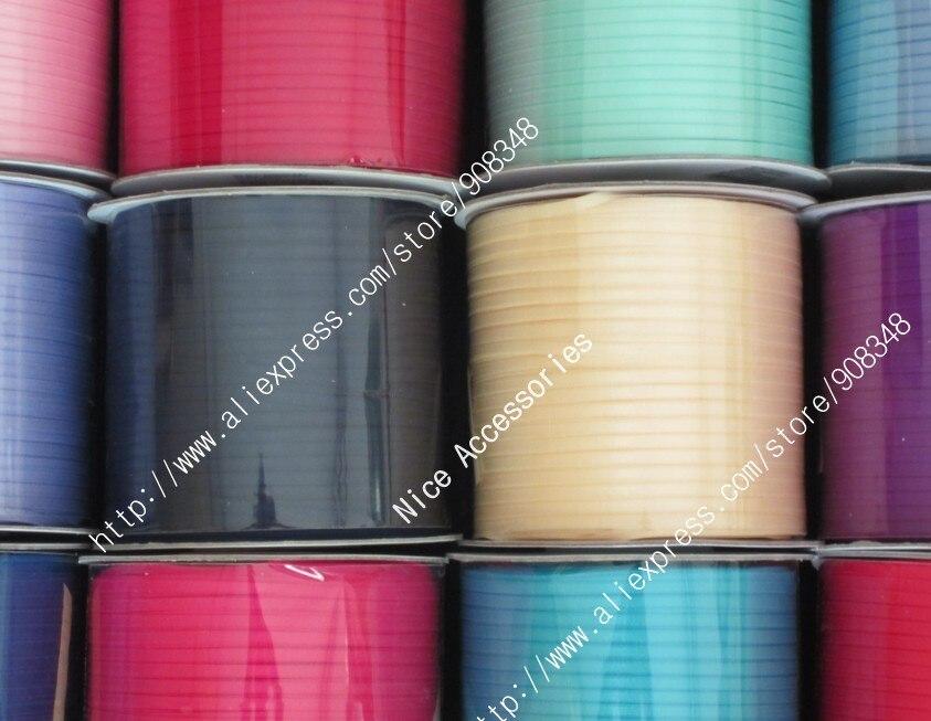 1/8 ''3 мм полиэстер однотонная цветная корсажная лента аксессуары 350 ярдов/цвет
