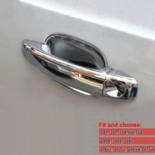 Автомобильные дверные ручки крышки и автомобильная дверная ручка стикер Газа подходит для peugeot 308 307 408 207 508 206 301 2008 3008 углеродное волокно ремонт гальванических кепки