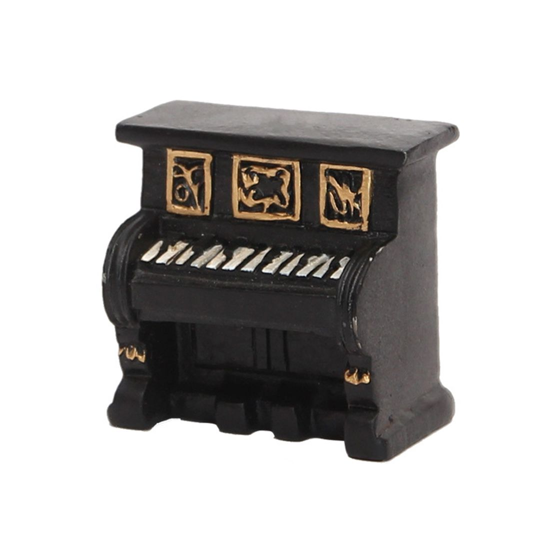Vintage old creative resin mini piano small ornaments desk accessories Home decorations childrens gifts shop shooting props