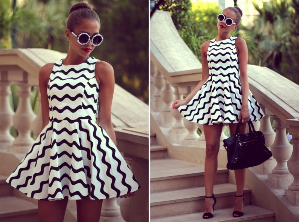 Summer Dress 2015 Women Vintage Fashion Evening Party Dresses Short