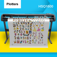 110V 220V HSQ1600 Cutter Plotters Stickers Banners Graphic Design Digital Cutting Large Format Section Cutter Plotters