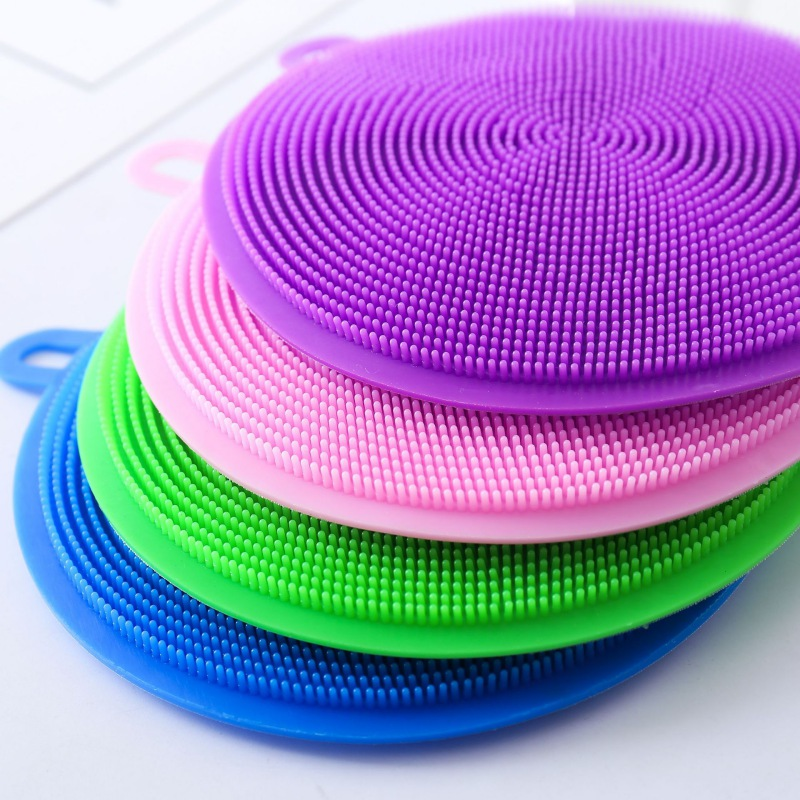 Dish Cooking Tool Cleaning Brush Silicone Dish Bowl Scouring Pad Pot Pan Easy to Clean Wash Brushes Cleaner Sponges