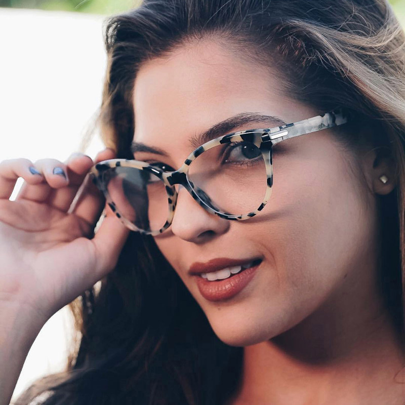 Women Designer Brand Designer Eyeglasses Optical Acetate Rim Spectacles For Women Eyewear Glasses Frame Fashion Styles 92162