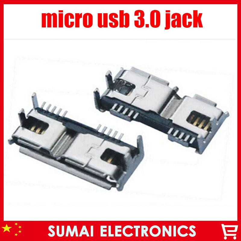 Usb 3 0 Micro B Female 10 Pin Charging Wire Socket Jack
