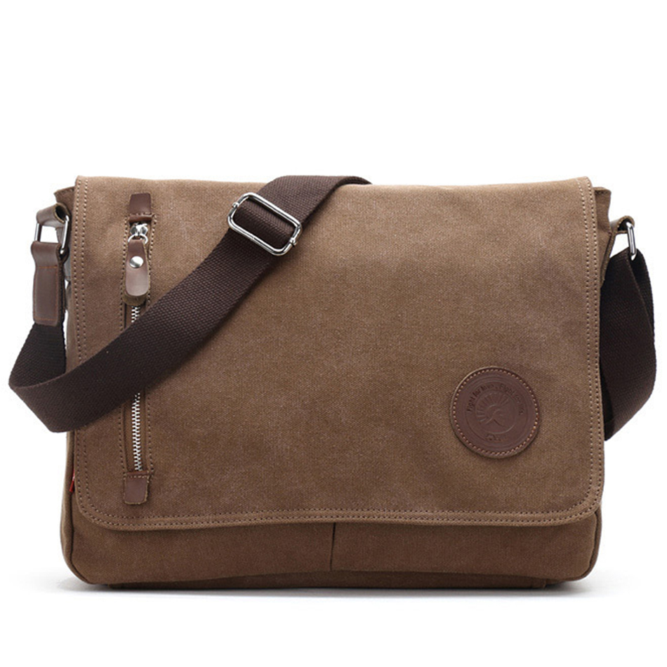 Augur New Canvas Leather Crossbody Bag Men Military Army Vintage Messenger Bags Shoulder Bag Casual Travel school Bags augur 2017 canvas leather crossbody bag men military army vintage messenger bags shoulder bag casual travel school bags
