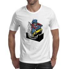 Machine Skateboarder T-shirt Pop Fashion Hip Hop T Shirt Rock Skate Creative Women Men Top
