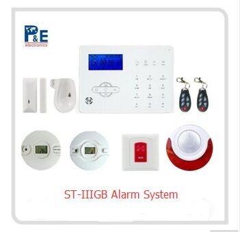 Simple GSM phone call alarm system & APP control GSM home alarm & wireless burglar security alarm system wireless service call bell system popular in restaurant ce passed 433 92mhz full equipment watch pager 1 watch 7 call button