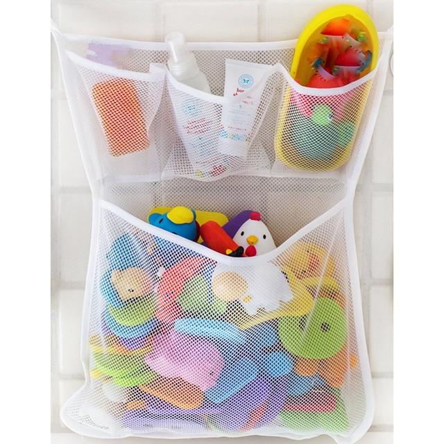 1 sztuk łazienka siatka netto worek do przechowywania do kąpieli dla dzieci wanna zabawka Mesh netto worek do przechowywania organizer dla domu 33x45 cm