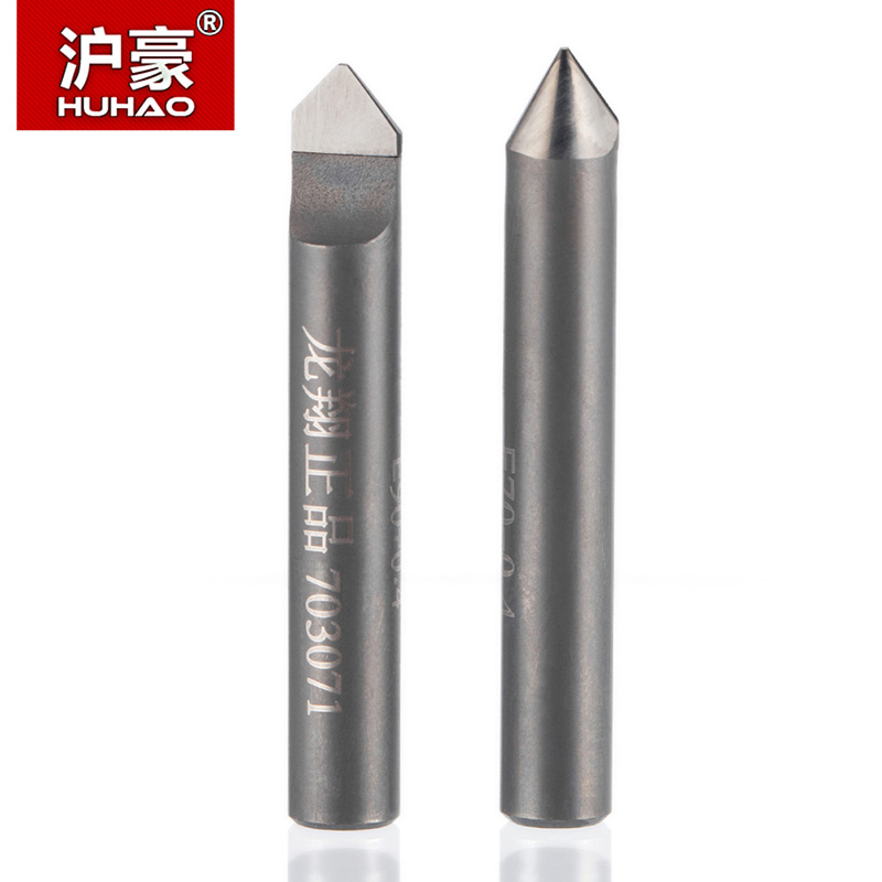 цена на HUHAO 1pc 6mm HSS Router End Mill Diamond PCD Tools Stone Hard Granite Cutting Engraving Bits 70 90 Degree CNC Cutter for Marble