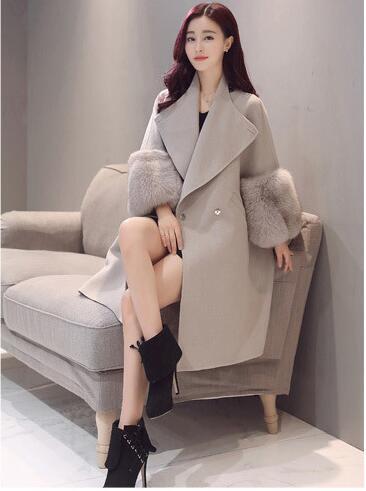 Moyen Moralité 2017 Haut Cultiver Nouvelles Vestes Épais Laine Manteau Automne De Édition Femmes Longtemps Kaki Hiver Sa Gamme Coréenne p0pwnzOqS