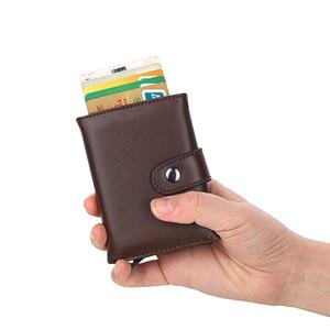 Image 5 - Weduoduo 2019 גבוהה באיכות עור מפוצל אשראי כרטיס בעל Rfid כרטיס מחזיק Rfid חדש עיצוב בנק כרטיס עסקי מקרי כרטיס כיס