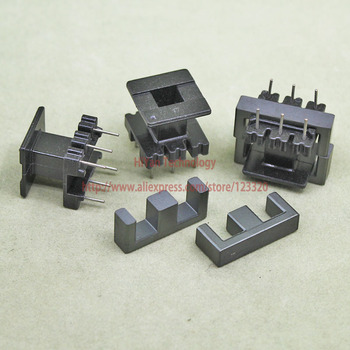 20sets/lot EE25 PC40 Ferrite Magnetic Core and 3 Pins + 3 Pins Top Entry Plastic Bobbin Customize Vo