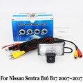 Para Nissan Sentra B16 B17/SE 2007 ~ 2017/RCA Cable AUXILIAR O inalámbrico/HD Lente Gran Angular/Visión Nocturna del CCD Cámara de Visión Trasera