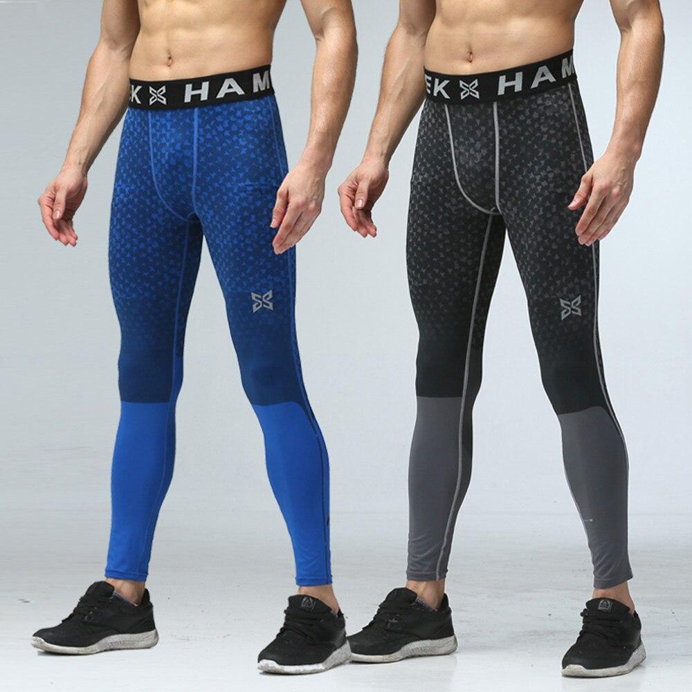 2017 New men sports leggings running tig