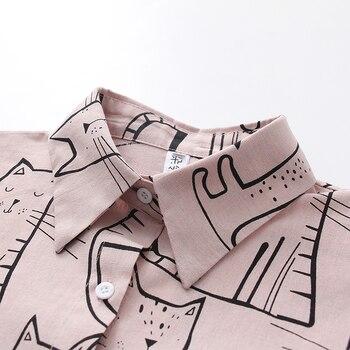 Cotton Shirts For Women Cartoon Print  Blouse  1
