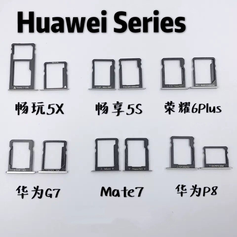 Changwan 5X 5S 6plus G7 mate7 P8 7i/<font><b>7</b></font>/7X Micro <font><b>Dual</b></font> <font><b>SIM</b></font> SD TF Card Slot Tray Holder Reader <font><b>Adapter</b></font> Socket Connector image