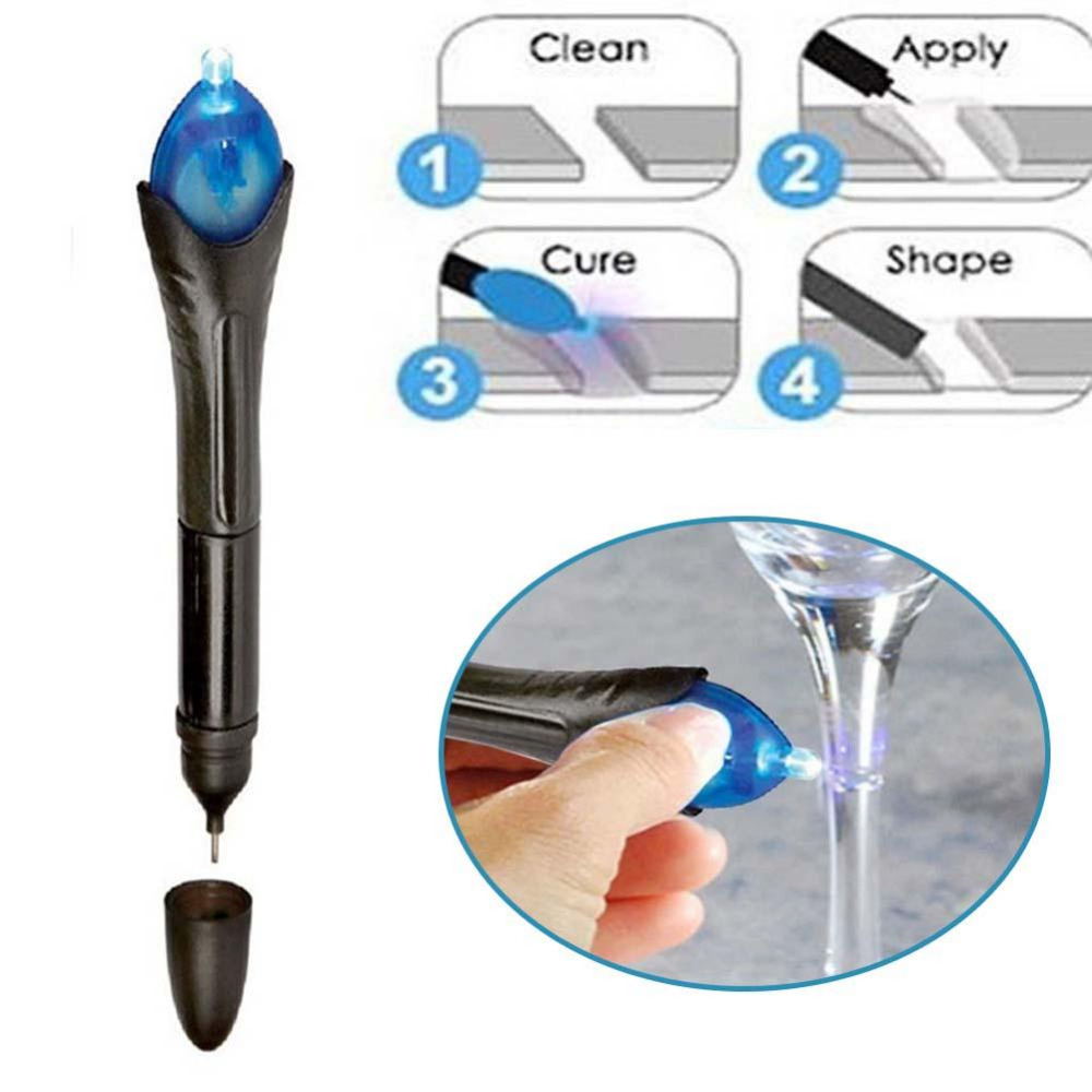 Quick 5 Second UV Light Fix Liquid Glass Welding Compound Glue Repairs Tool Quick Use