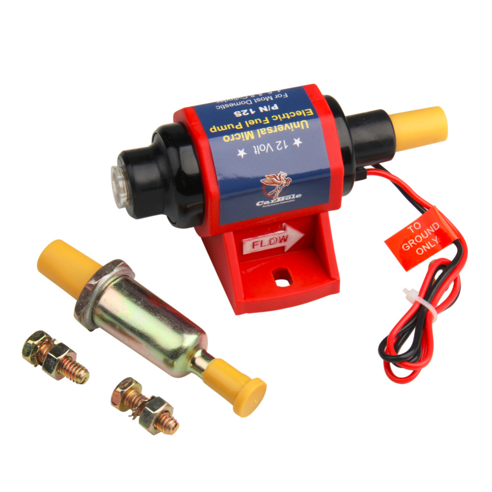 CARBOLE 12v electric low-pressure fuel pump for pumping oil motor gasoline for moto block 12V 35GPH 7PSI 1/8 in. NPT 0.630