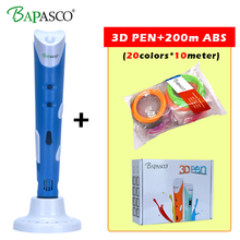 BAPASCO MR RP-100A New Magic 3d printer pen Drawing 3D Pen With Free ABS filaments 3D Printing 3d pens for kids birthday present