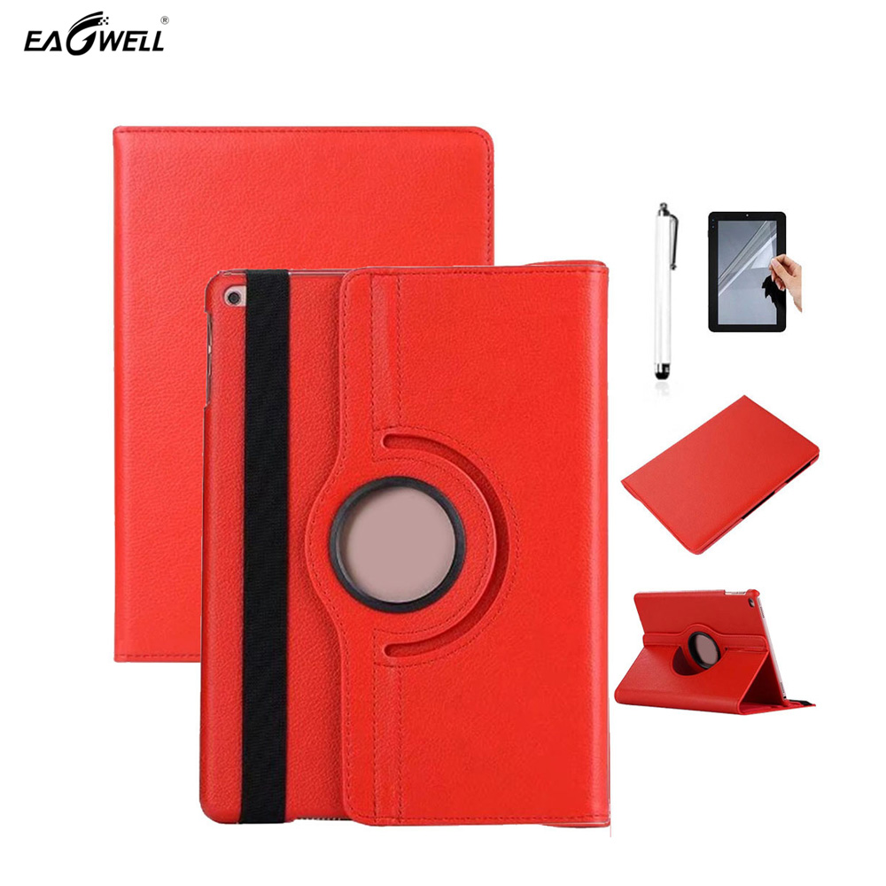 Case Cover For iPad 2017 9.7 inch 360 Rotating PU Leather Stand Holder Fashion Solid Smart Tablet Case Shell Skin for ipad mini4 cover high quality soft tpu rubber back case for ipad mini 4 silicone back cover semi transparent case shell skin