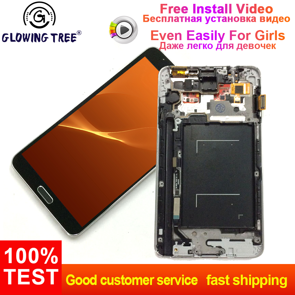 For Samsung Galaxy Note3 Note 3 N9005 4G Touch Screen Digitizer Glass + LCD Display Panel Monitor Assembly with Frame Bezel For Samsung Galaxy Note3 Note 3 N9005 4G Touch Screen Digitizer Glass + LCD Display Panel Monitor Assembly with Frame Bezel