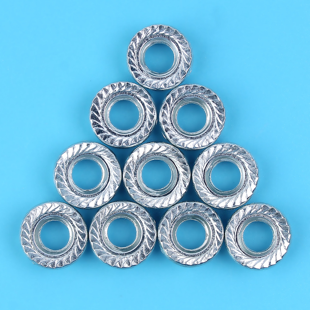 10 X Bar Nuts For HUSQVARNA 268 51 55 61 66 272 345 350 351 353 357 359 362 365 372 Chainsaw Replacement Parts 503 2200 01