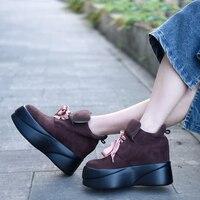 Artmu/оригинальная женская обувь на плоской платформе, обувь на высоком каблуке, обувь на высокой танкетке, обувь ручной работы из натуральной