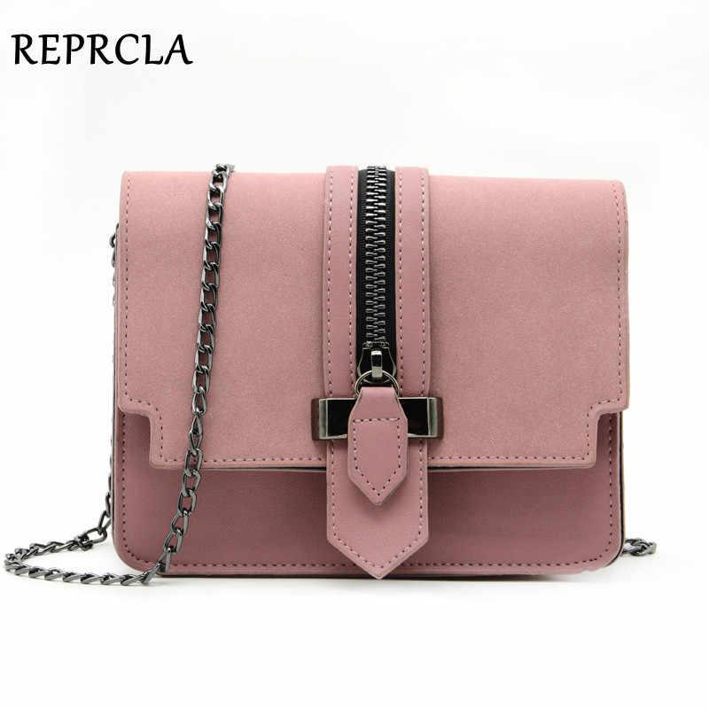 7f9c575813e2 REPRCLA модные матовые из искусственной кожи Для женщин сумки Высокое  качество Сумки дизайнер сумка маленький сеть