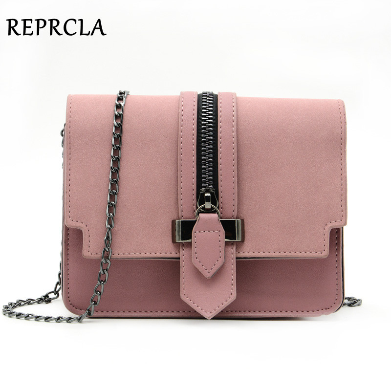 REPRCLA Fashion Matte PU Leather Women Bags High Quality Handbags Designer Shoulder Bag Small Chain Crossbody Messenger Bags fashion women pu leather bag high quality mini handbags lady messenger bags chain shoulder crossbody bag for female small clutch page 1