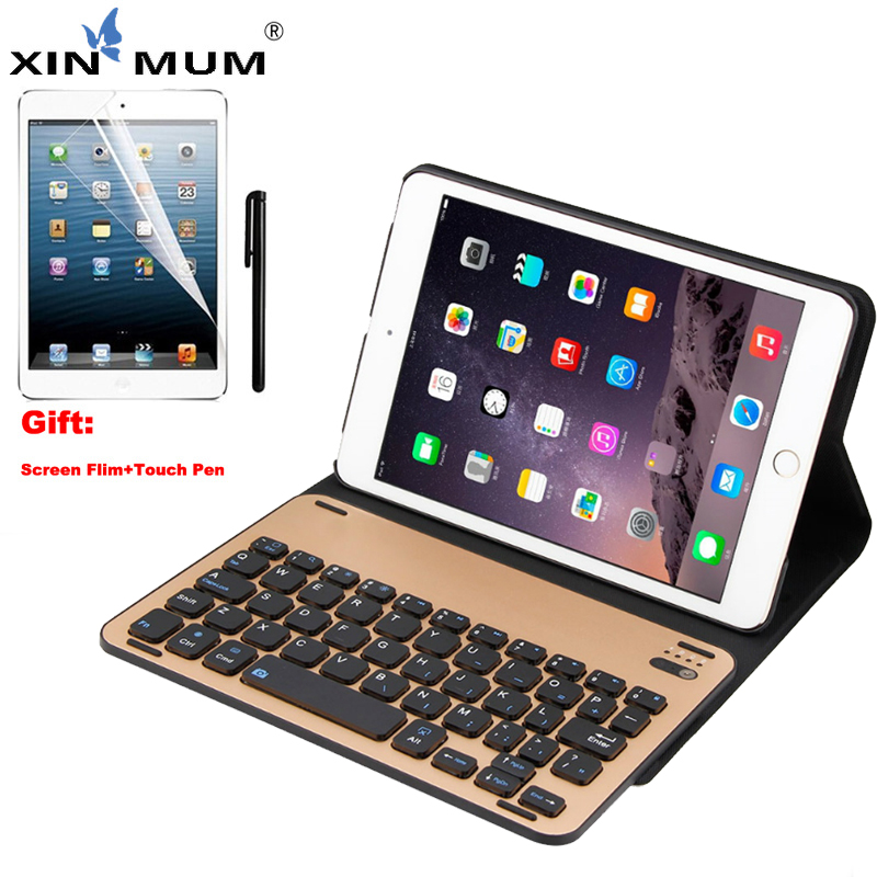 XIN-MUM pour iPad Mini 3 étui sans fil Bluetooth clavier pour iPad Mini 1 2 3 Portable en alliage d'aluminium support de clavier étui intelligent