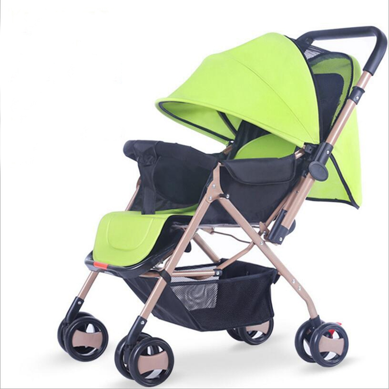 Bi-directional multi-color 2018 new stylish lightweight folding trolley can sit four-wheeled cart baby stroller umbrella cart fr stylish solid color lightweight pleated scarf for women